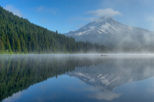 Mt. Hood from Trillium Lake, Mt. Hood National Forest, Oregon
