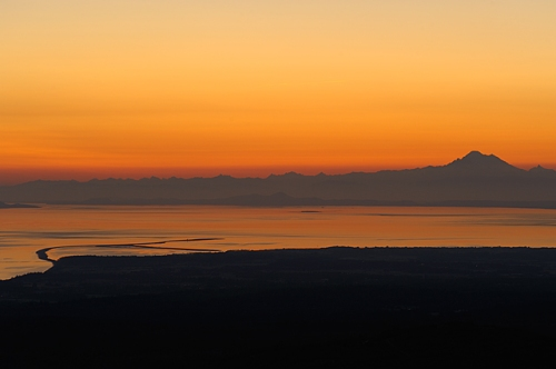 Strait of Juan de Fuca and the Channel Islands from the Hurricane Ridge Road, Olympic National Park, Washington