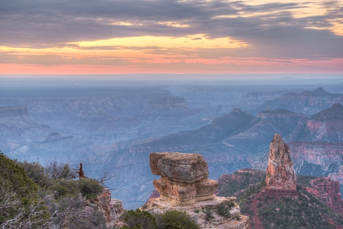 Dawn, Point Imperial, Grand Canyon National Park - North Rim, Arizona
