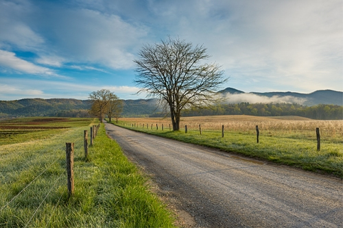 Hyatt Lane Morning, Cades Cove, Great Smoky Mountains National Park, Tennessee