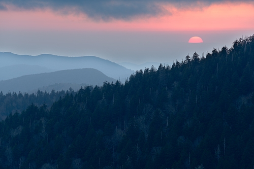 Setting Sun, Clingman's Dome, Great Smoky Mountains National Park, Tennessee/North Carolina