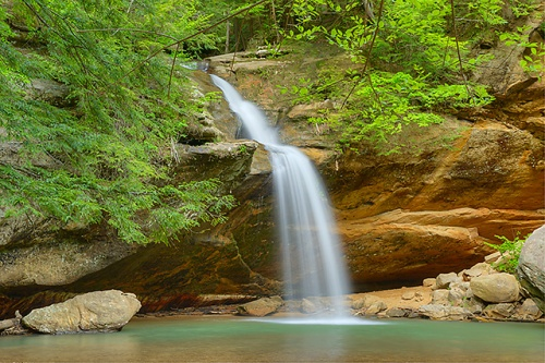 Lower Falls, Old Man's Cave Area, Hocking Hills State Park, Ohio