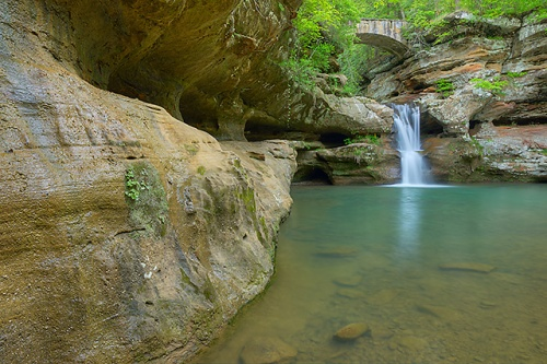 Upper Falls, Old Man's Cave Area, Hocking Hills State Park, Ohio
