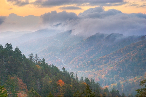 Newfound Gap at Sunrise, Great Smoky Mountains National Park, Tennessee
