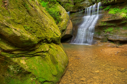 Unnamed Waterfall, Cedar Falls Area, Hocking Hills State Park, Ohio