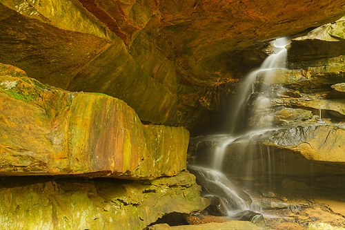 Broken Rock Falls, Old Man's Cave Area, Hocking Hills State Park, Ohio