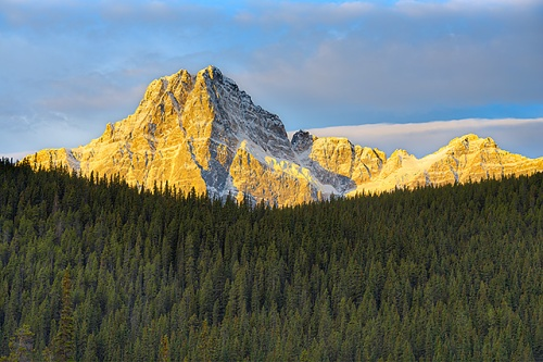 Howse Peak at Sunrise, Waterfowl Lakes, Banff National Park, Alberta