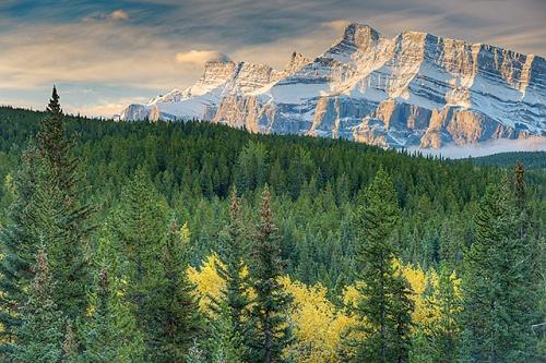 Mt. Rundle from the Lake Minnewanka Scenic Drive, Banff National Park, Alberta