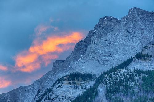 Mt. Girouard at Sunrise, Two Jack Lake, Banff National Park, Alberta