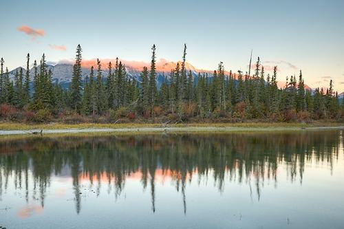 Athabasca River at Sunrise, Jasper National Park, Alberta